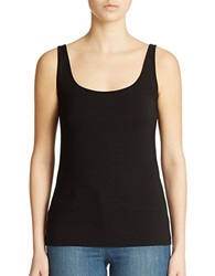 Lord And Taylor Iconic Fit Slimming Scoopneck Tank Black