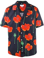 Soulland Short Sleeve Floral Shirt Black
