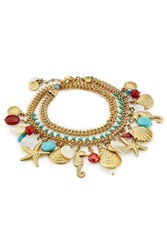 Gas Bijoux Searene 24K Gold Plated Charm Bracelet