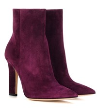 Gianvito Rossi Daryl Suede Ankle Boots Purple