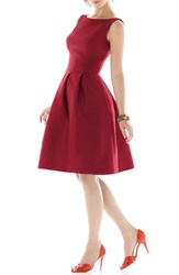 Women's Alfred Sung Dupioni Fit And Flare Dress