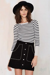 Nasty Gal That's Entertainment Striped Ribbed Top