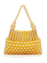 Shrimps Quinn Faux Pearl And Bead Embellished Bag Yellow Multi