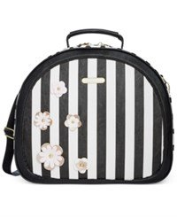 Betsey Johnson Hat Weekender Only At Macy's Black White Stripe