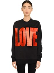 Givenchy Love Printed Cotton Sweatshirt