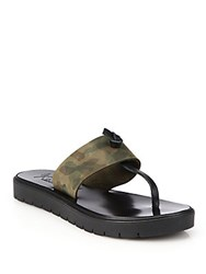 Joie A La Plage Sterling Camouflage Print Leather Thong Sandals