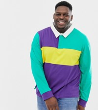 Another Influence Plus Rugby Long Sleeve Top Purple