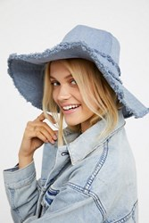 Free People Womens Darlin' Denim Bucket Hat