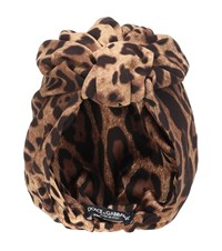 Dolce And Gabbana Leopard Turban Brown