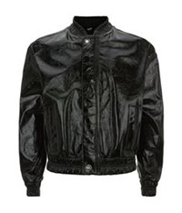 Versus By Versace High Shine Bomber Jacket Black