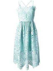 Perseverance London Flared Lace Dress Green