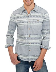 Lucky Brand Tribal Sportshirt Blue
