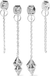 Noir Jewelry Silver Tone Crystal Earrings Set