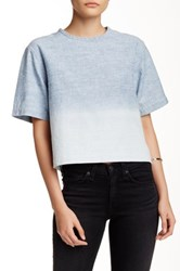 Rag And Bone Ombre Cropped Shirt Blue