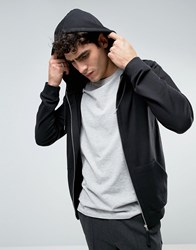 Bellfield Zip Up Hoodie Black