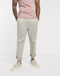 Levi's Straight Fit Cropped Chinos Pressed Crease Front In Sandhill Beige Wash