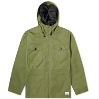 Vanquish Hooded Military Jacket Green