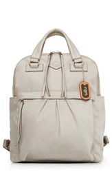 M Z Wallace Mz Jordan Bedford Nylon Backpack Beige Atmosphere