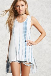 Forever 21 Tie Dye Print Tunic Light Blue