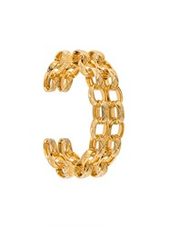 Chanel Vintage Chain Link Cuff Yellow And Orange