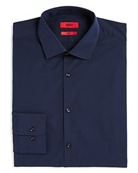 Hugo Mabel Fineline Stripe Sharp Fit Regular Fit Dress Shirt Navy