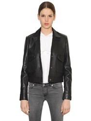Blk Dnm Leather Jacket 56