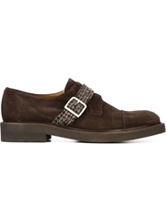 Eleventy Buckle Detail Shoes Brown