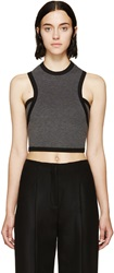 Denis Gagnon Grey Ma Lange Sleeveless Crop Top