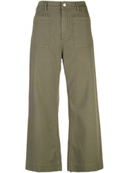 A.L.C. Cropped Trousers Green