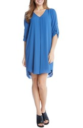 Karen Kane Women's Roll Sleeve Dress Indigo