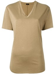 Joseph V Neck T Shirt Brown
