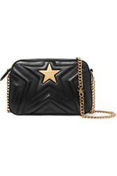 Stella Mccartney Embellished Quilted Faux Leather Camera Bag Black