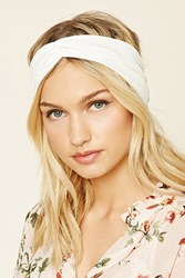 Forever 21 Ribbed Twist Front Headwrap