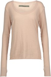 Enza Costa Cotton And Cashmere Blend Sweater Sand