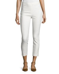 Derek Lam Cropped Stretch Leggings Soft White