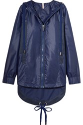 No Ka' Oi Ka'oi Ui Ui Shell And Canvas Hooded Jacket Navy