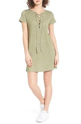 Roxy Women's Go Your Way Lace Up Dress Oil Green Heather