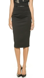Black Halo High Waisted Pencil Skirt Black