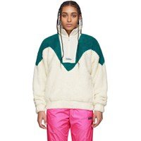 Misbhv Off White And Blue The Europa Fleece Jacket