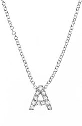 Bony Levy Women's Pave Diamond Initial Pendant Necklace Nordstrom Exclusive