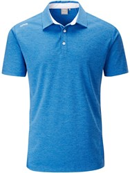 Ping Men's Harrison Heather Polo Blue