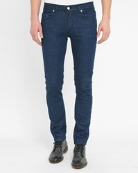 Knowledge Cotton Apparel Blue 5 Pocket Raw Stretch Slim Fit Trousers