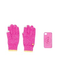 Juicy Couture Glittered Gloves And Iphone 4 Case Pink