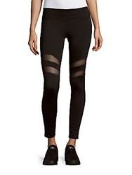 Andrew Marc New York Solid Cutout Leggings Black