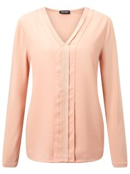 Gerry Weber Pleat Detail V Neck Top Powder