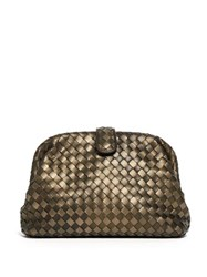 Bottega Veneta The Lauren 1980 Leather Clutch Gold Multi