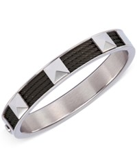 Charriol Unisex Stainless Steel And Black Pvd Cable Bangle Bracelet 04 03 1139 2L
