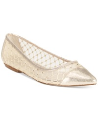Adrianna Papell Jewel Evening Flats Women's Shoes Gold