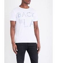 Replay Back In La Cotton Jersey T Shirt Optical White