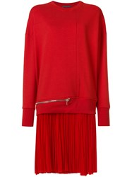 Alexander Mcqueen Sweatshirt Dress Red